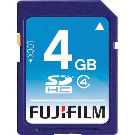 V Sdhc 4gb Class6 Memory Card Speed 25mbs Sd Card Original fujifilm 4gb sdhc memory card class 4 600008957 b h photo
