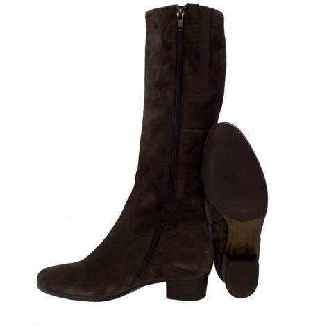 gabor toye knee high grey suede boots mozimo