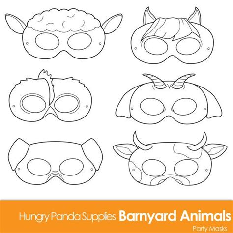 animal mask templates barnyard animals printable coloring masks farm animal