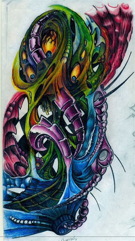 biomechanical tattoo artists ta biomechanical something by innenseiter on deviantart