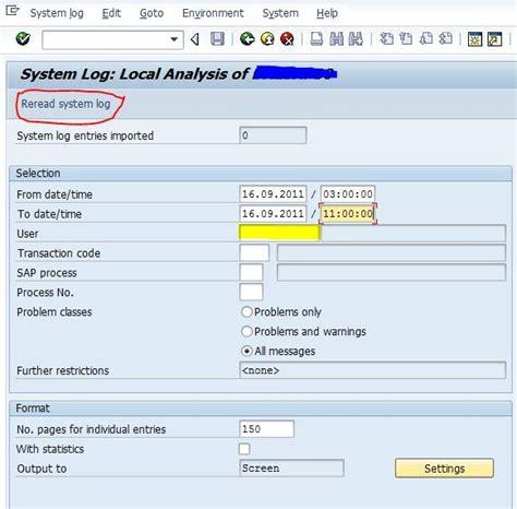tutorial sap basis pdf sap basis tutorials sap system log
