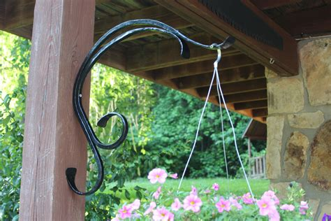 Outside Plant Hangers - plant hanger outdoor indoor hanging plant hook curved iron