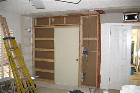 pocket door installation existing wall