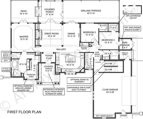 Best Empty Nester House Plans by Empty Nester House Plans Stunning Left Side Elevation