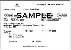 insurance id card template proof of insurance approved auto