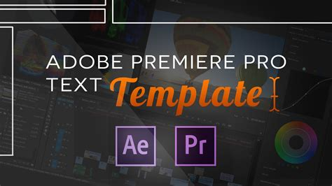 Text Templates For Adobe Premiere Pro Cc Youtube Adobe Premiere Sports Templates