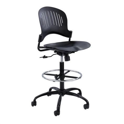 Plastic Office Chair by Plastic Extended Height Office Chair In Black 3386bl