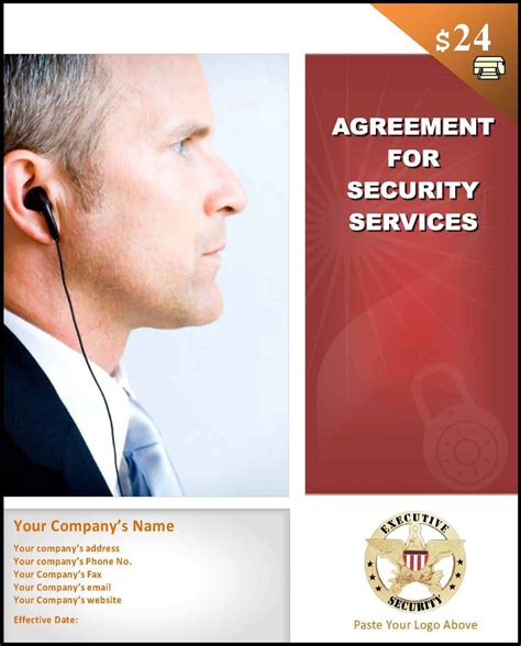 Agreement Letter For Security Service sle security contract template start a security company