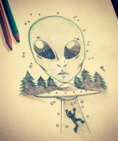 sketch alien abduction by inked alpha on deviantart