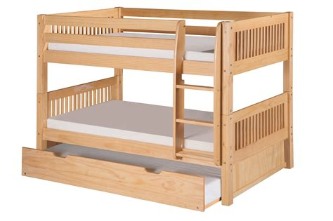 low twin bunk beds camaflexi twin over twin low bunk bed with twin trundle