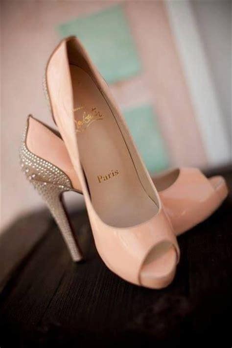 blush colored high heels blush wedding blush colored christian louboutins