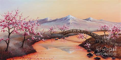 paint nite japanese cherry blossoms cherry blossoms in the mist revisited painting by joe