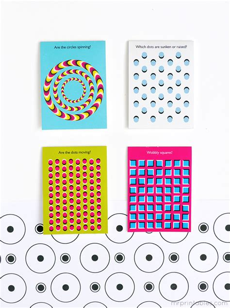 mr printable optical illusions optical illusion lunch box notes mr printables