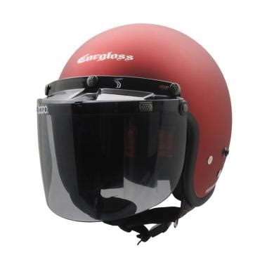 Helm Bogo Flat jual cargloss retro visor bogo flat smoke helm half doff harga