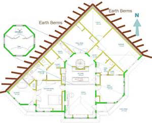 earth shelter underground floor plans home plans for a passive solar earth sheltered home at