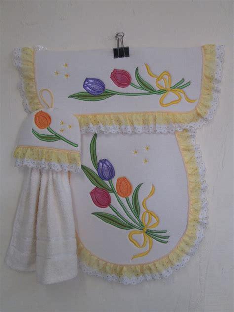 juegos de cocina bordados en patchwork juego para ba 209 o en manta bordado tulipanes otros