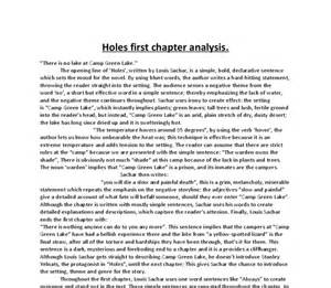 Holes Book Report Ideas Quot Holes Quot By Louis Sachar First Chapter Analysis Gcse