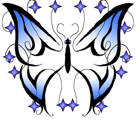 butterfly tattoo clipart blue butterfly images cliparts co