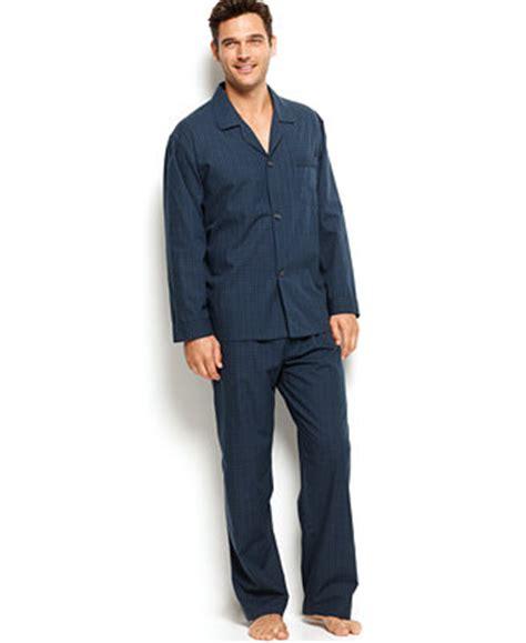 Piyama Royal G club room s mini blackwatch pajamas shirt and