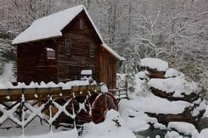 file west virginia gristmill winter postcard rocks creek