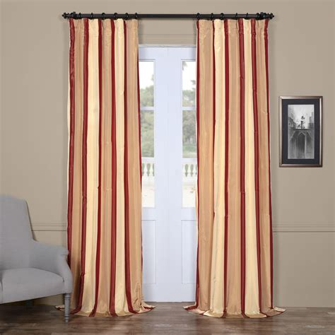 burgundy striped curtains 206633647946259057