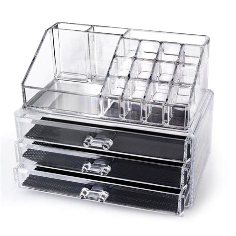 acrylic clear cosmetic organizer make up lipstick