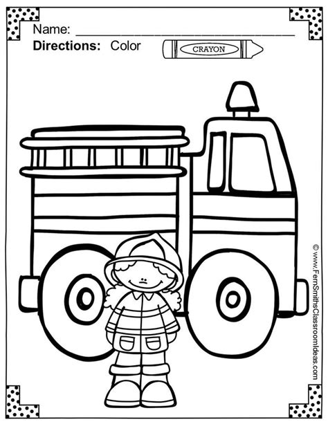 28 Best Kids Firefighter Coloring Pages Images On Pinterest Department Coloring Pages