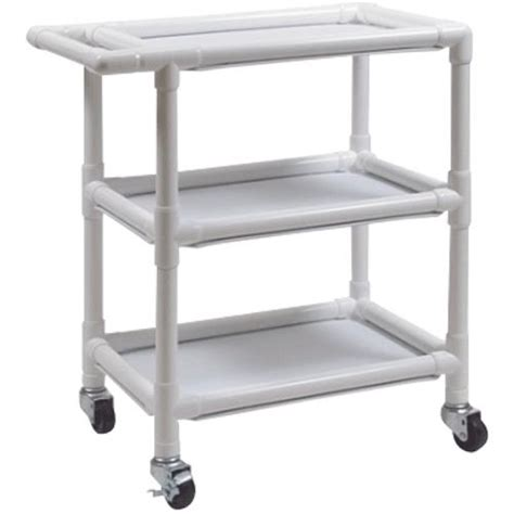 graham field pvc three shelf utility cart medical cart