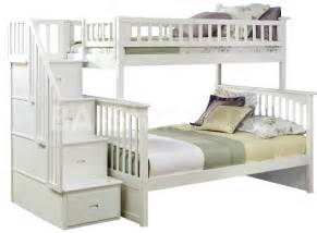 Staircase For Bunk Bed Columbia Staircase Bunk Bed White Bunk