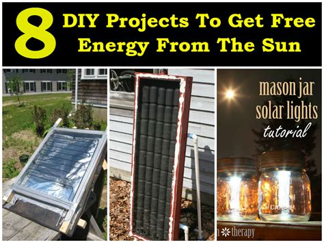 how to make solar energy at home free 8 diy projects to get free energy from the sun