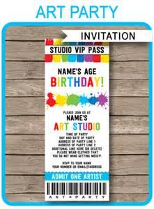 ticket birthday invitation template ticket invitations paint template