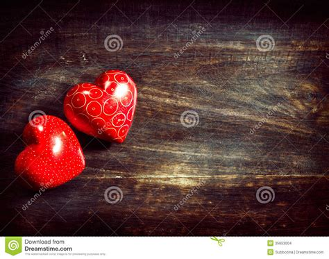 Handcrafted Hearts - valentines hearts wood stock photo image of design