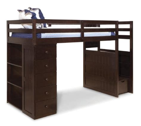 twin bed with dresser built in canwood mountaineer loft bed with storage tower and built
