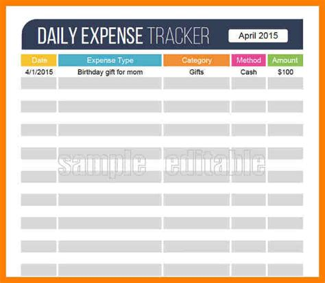 expense tracker template for excel 11 daily expense tracker excel lease template