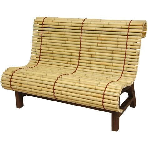 oriental bench oriental furniture curved japanese bamboo bench