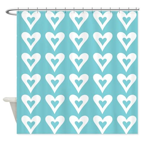 love curtains best loved grey curtains hearts love turquoise pattern shower curtain by