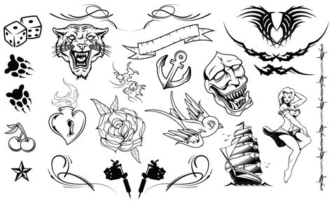 tattoo vector images tattoos vector pack