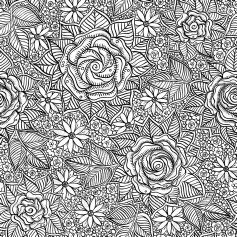black and white hand pattern flower pattern black and white seamless