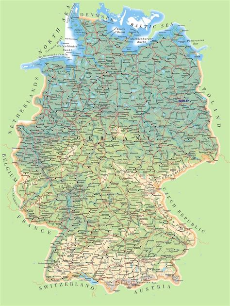 germany map detailed large detailed map of germany