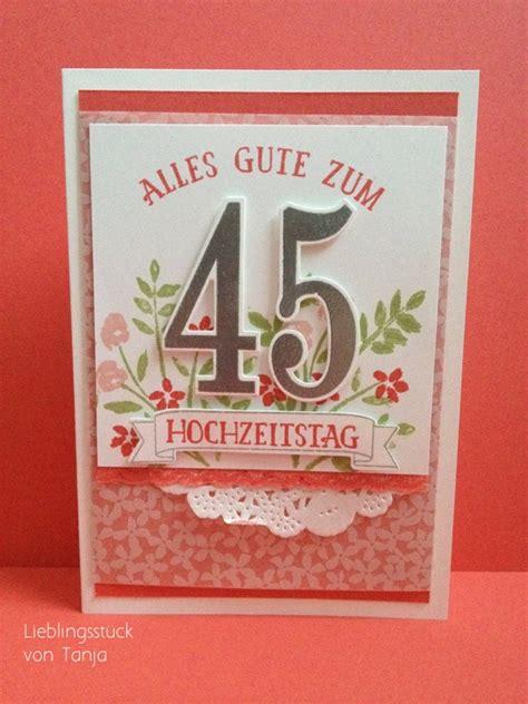 Hochzeit 45 Jahre by Hochzeit Lieblingsst 252 Cke
