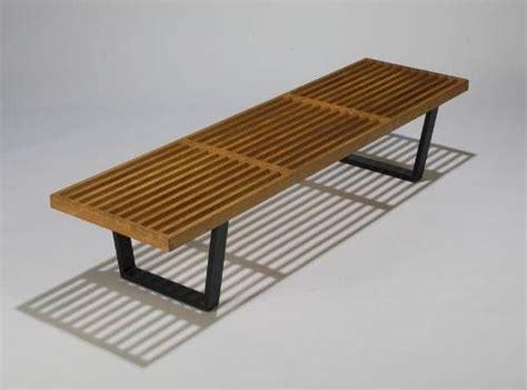 george nelson bench original george nelson slat bench blonde wood