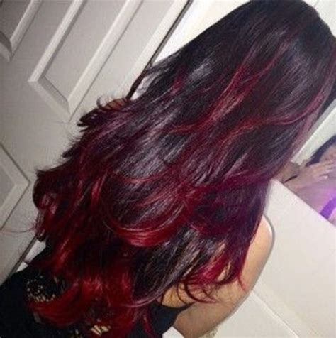 pictuted of red highlights on dark hair with spiky cut dark hair with red highlights pictures photos and images