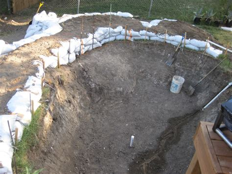 leveling a backyard build your own pool this diy rock pool construction is