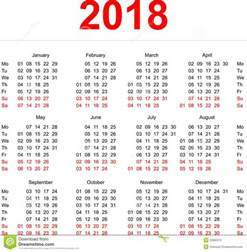 Kalender 2018 Veckor 2018 Calendar Template Vertical Weeks Day Monday