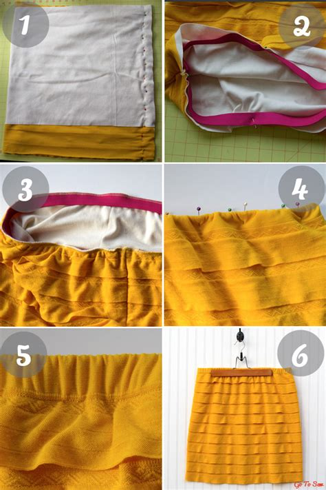 skirt pattern knit fabric great tutorial for sewing with ruffle knit fabric how to