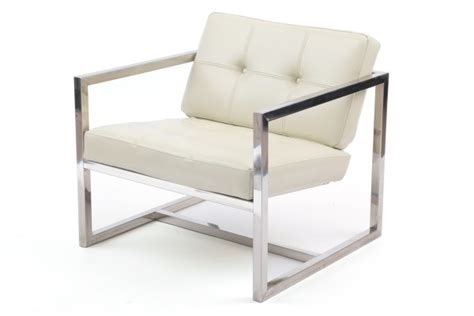 stainless steel modern furniture four stainless steel tufted lounge chairs modern
