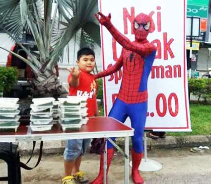 spiderman tak  job jual nasi lemak merapu merepek meraban