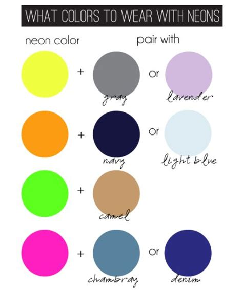 how to match colors neon color matching chart clothes pinterest neon colors charts and neon