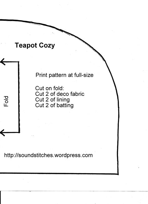 free teapot cozy pattern soundstitches sewing blog