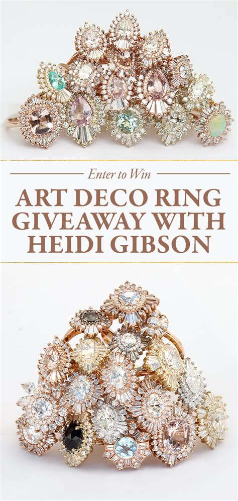 Gibson Giveaway - art deco ring giveaway with heidi gibson giveaway closed junebug weddings
